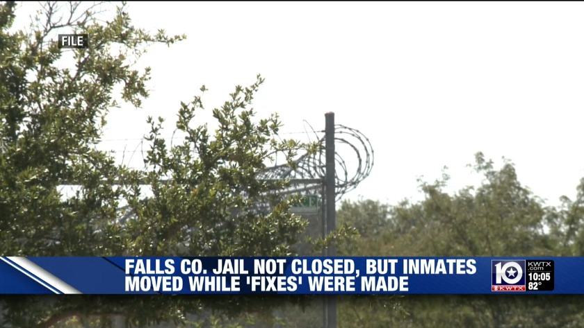 Sheriff: Falls County Jail not closed, inmates are back