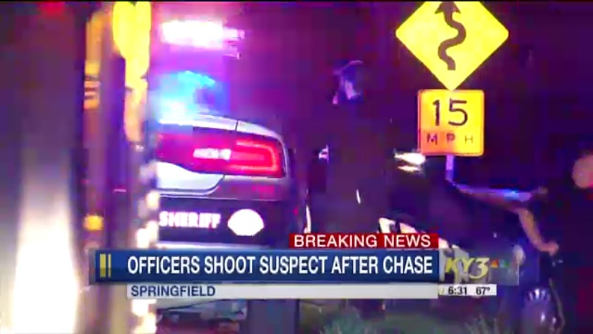 High-speed chase ends in gunfire