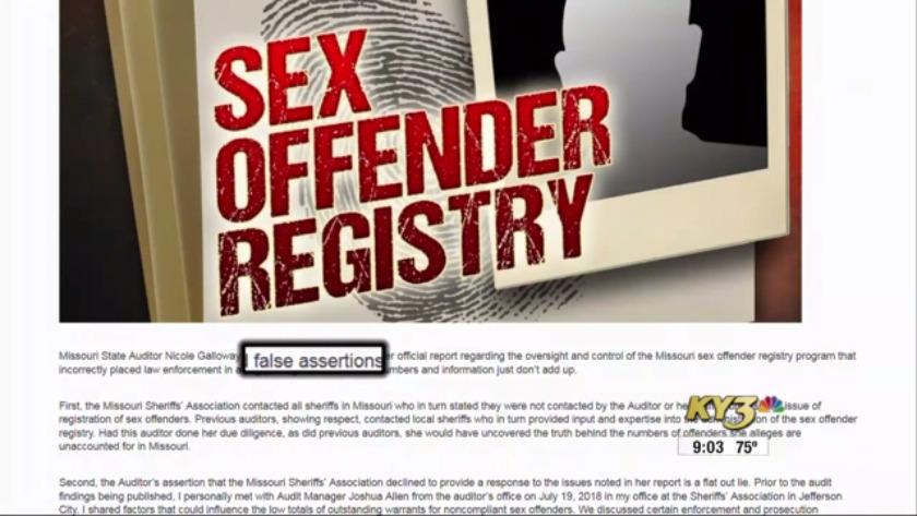 Missouri state statutes regarding sex offenders