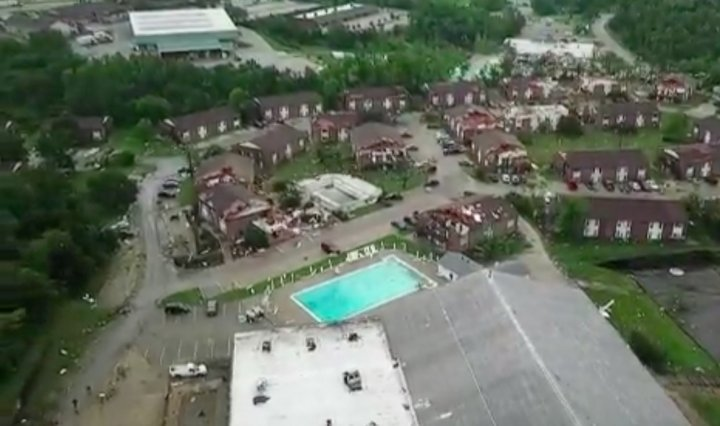 AERIAL VIDEO: See the widespread tornado damage in Jefferson