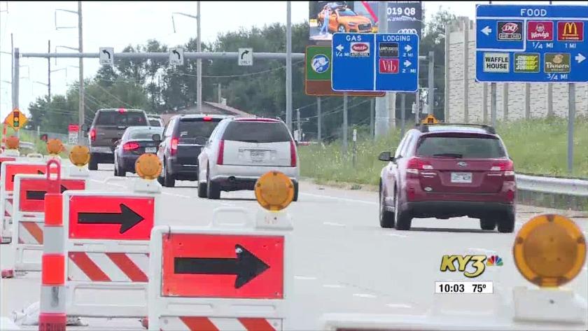 TRAFFIC ALERT: U S  65 construction slows drivers in Springfield