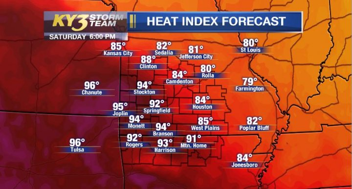 Heat and humidity on the rise today