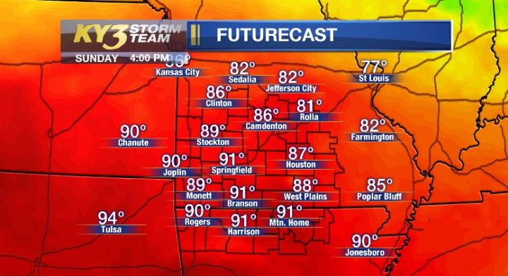Hot and Humid Today