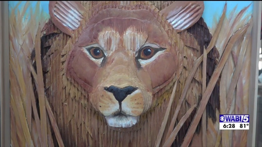 Orono artist makes beautiful artwork from discarded materials