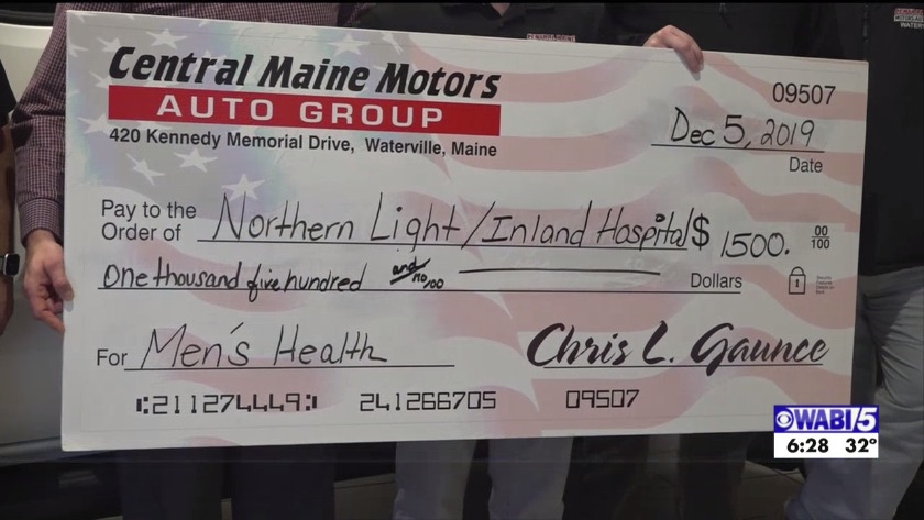 Central Maine Motors >> Central Maine Motors Raises 1 500 For Mens Health Through