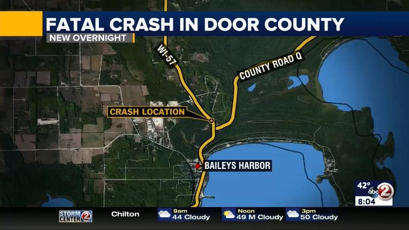 VIDEO: Fatal crash in Door County