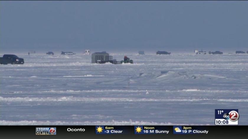 WATCH: Ice fishermen getting in last bites