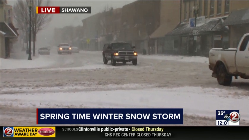 Weather Aware Day: Thundersnow and slick roads