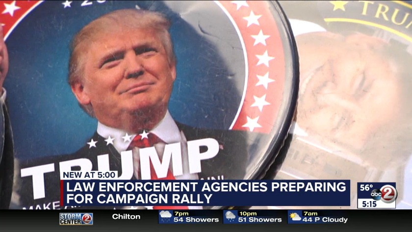 Traffic delays and road closures during President Trump visit