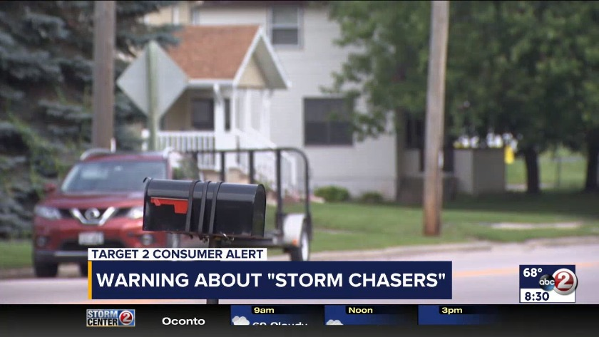 WATCH: Warning about storm chasers scam
