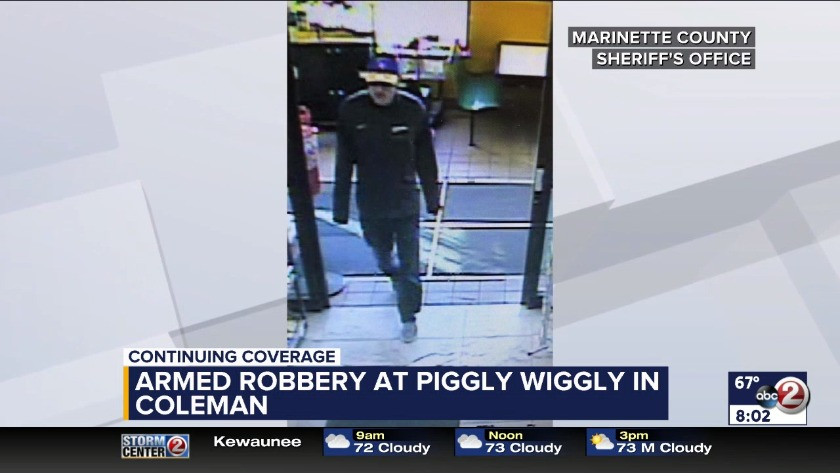 WATCH: Armed robbery at Piggly Wiggly Coleman