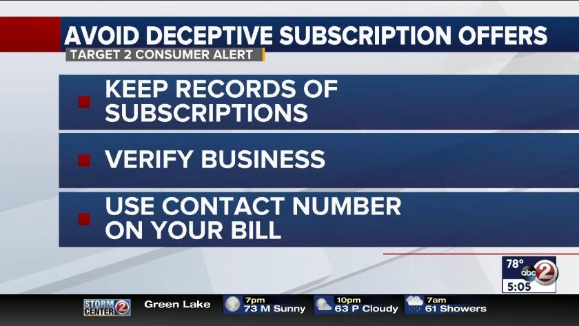 541ce348057 Target 2 Consumer Alert: Subscription scam