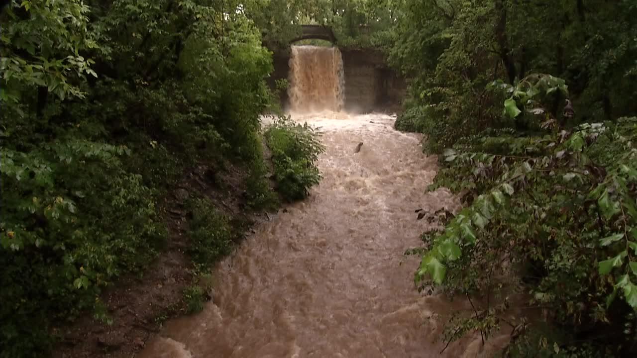 WATCH: Rushing waters of Wequiock Falls