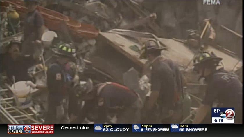 WATCH: Firefighters in training mark 9/11