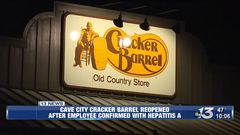 UPDATE: Hepatitis A confirmed in Cave City Cracker Barrel