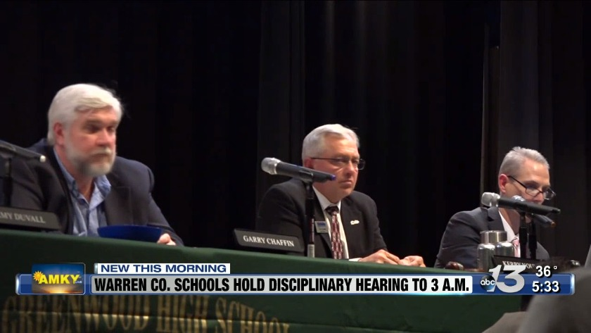 Warren County Schools disciplinary hearing continues into early