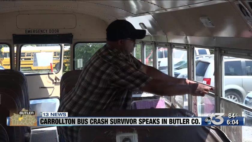 Carrollton bus crash survivor speaks at Butler County school