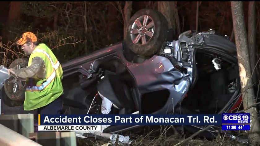 Crash closed part of Monacan Trail