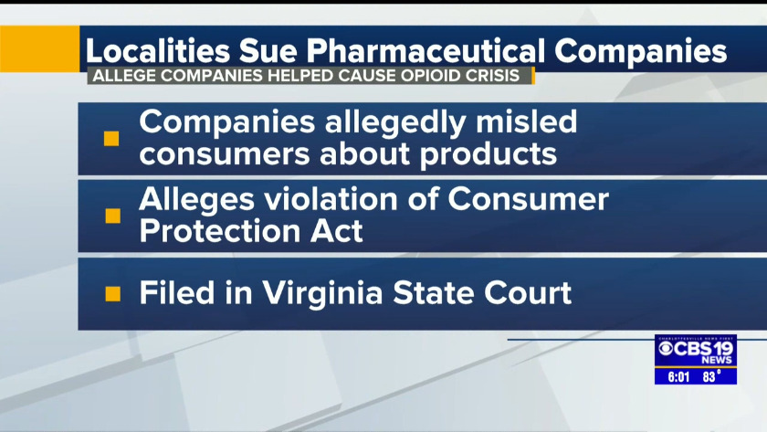 Local counties file lawsuits against pharmaceutical companies