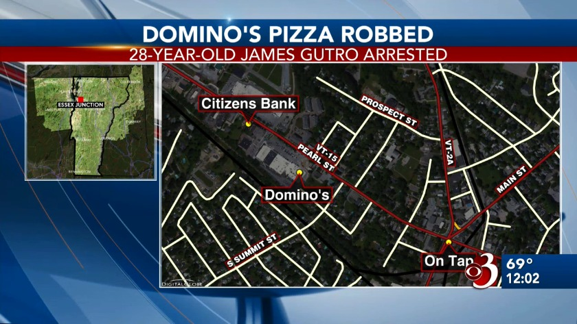 Police Dominos Thief Hit By Car While Trying To Escape