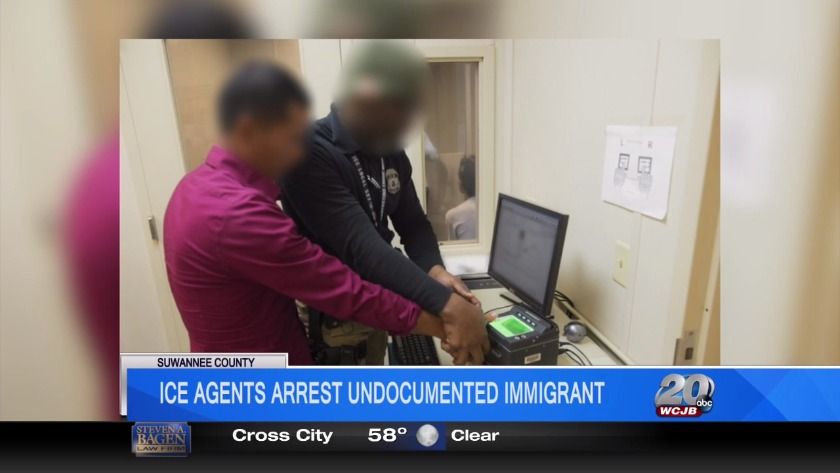 I C E  officers arrest undocumented immigrant in Suwannee County