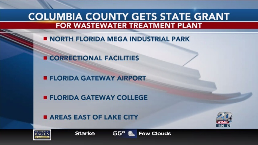 Columbia County to receive Florida Job Growth Grant