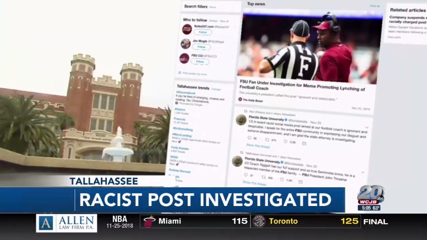 Man fired after racist post aimed at FSU football coach