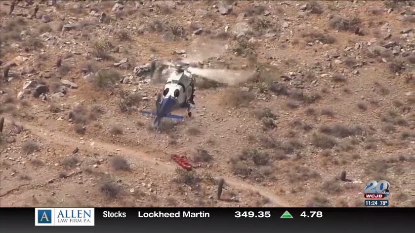 A helicopter rescue spins out of control