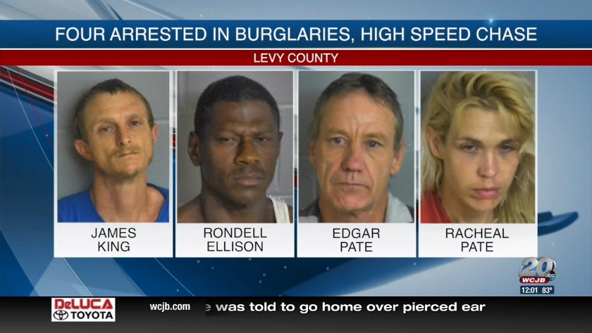 Four arrested in Levy County break-in, high-speed chase