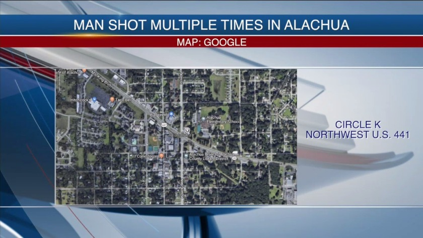 Man shot three times in Alachua armed robbery, walks to gas
