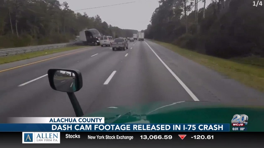 Dash-cam video released of the I-75 crash that killed 7 in