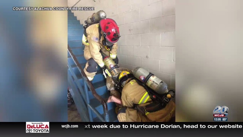 Firefighters in Alachua County practice rapid intervention