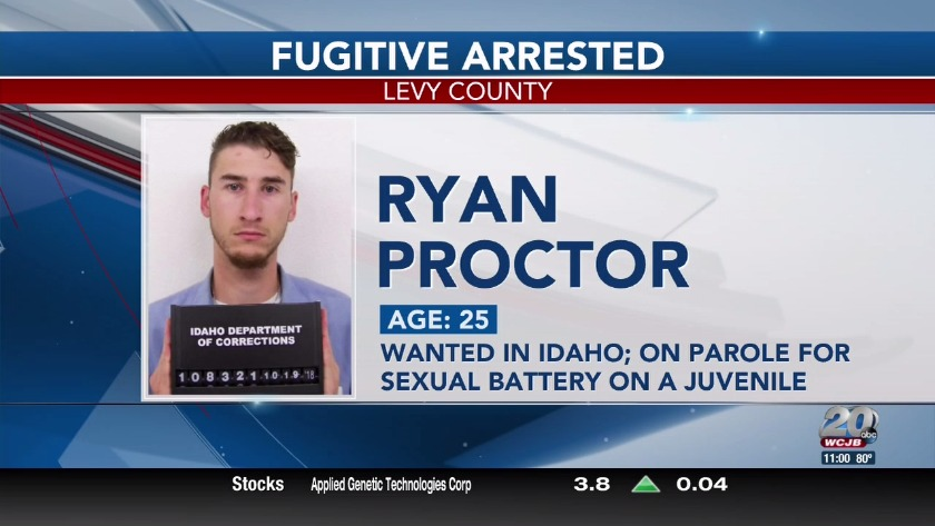 Fugitive from Idaho caught in Chiefland