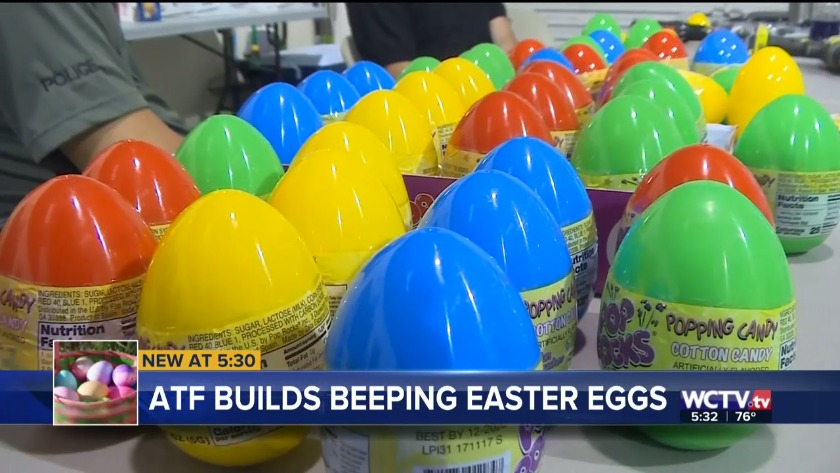 Big Bend Bomb Squad builds beeping Easter eggs for the visually impaired