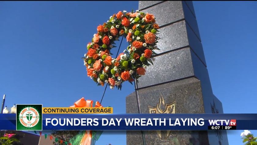 Famu celebrates founders day with wreath laying ceremony m4hsunfo