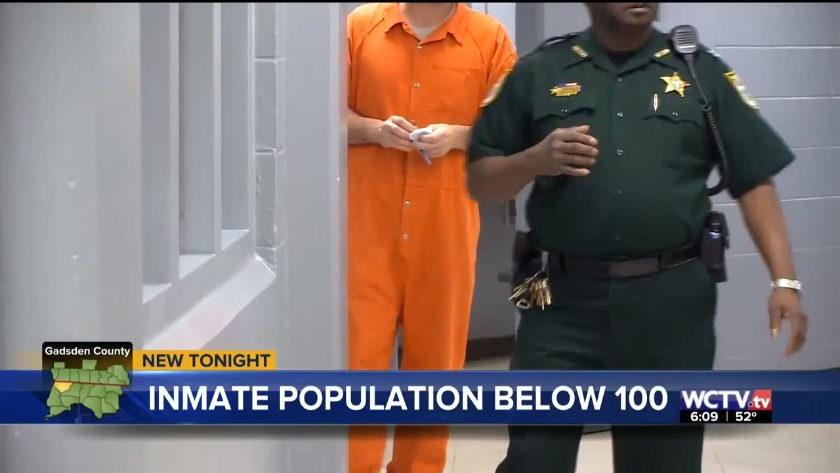 Inmate population at Gadsden County Jail under 100 for first