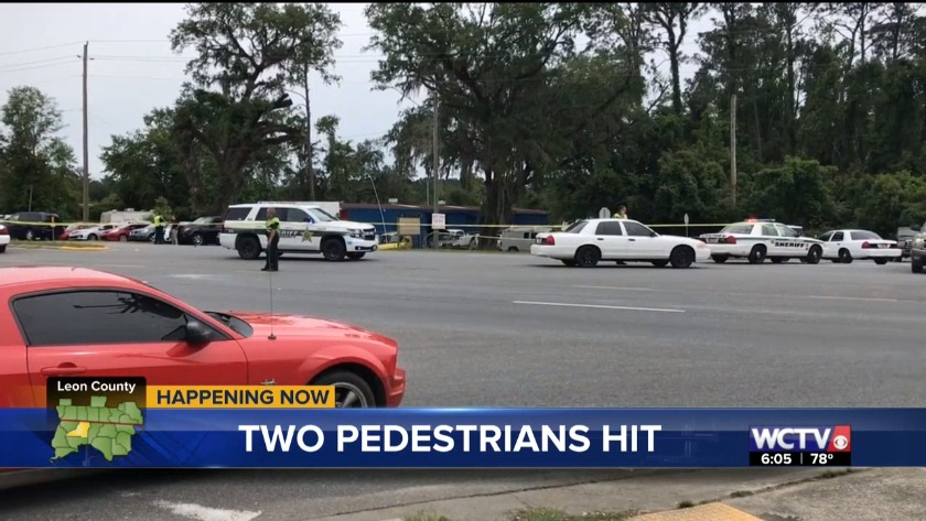 Two pedestrians hit by vehicle on West Tennessee Street