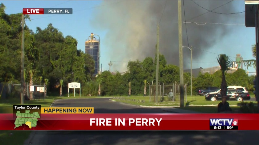 Taylor Co  Fire and Rescue responds to large fire at saw