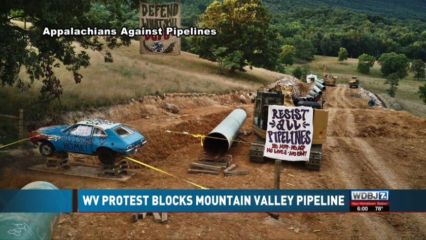 West Virginia protest blocks pipeline