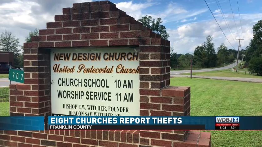 Franklin County deputies warning of church break-ins