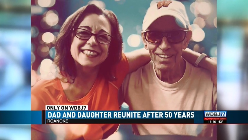 Dad and daughter reunite after 50 years