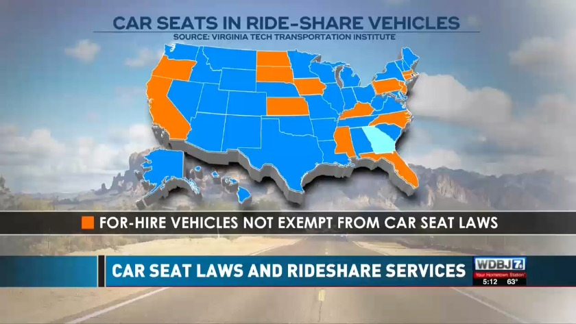 Car Seat Laws And Rideshare Services