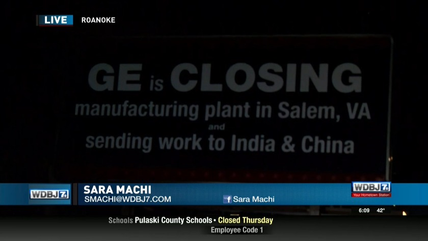 Union workers launch billboard campaign against Salem GE