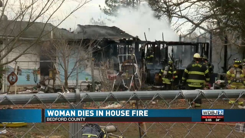 Woman dies in house fire in Bedford County