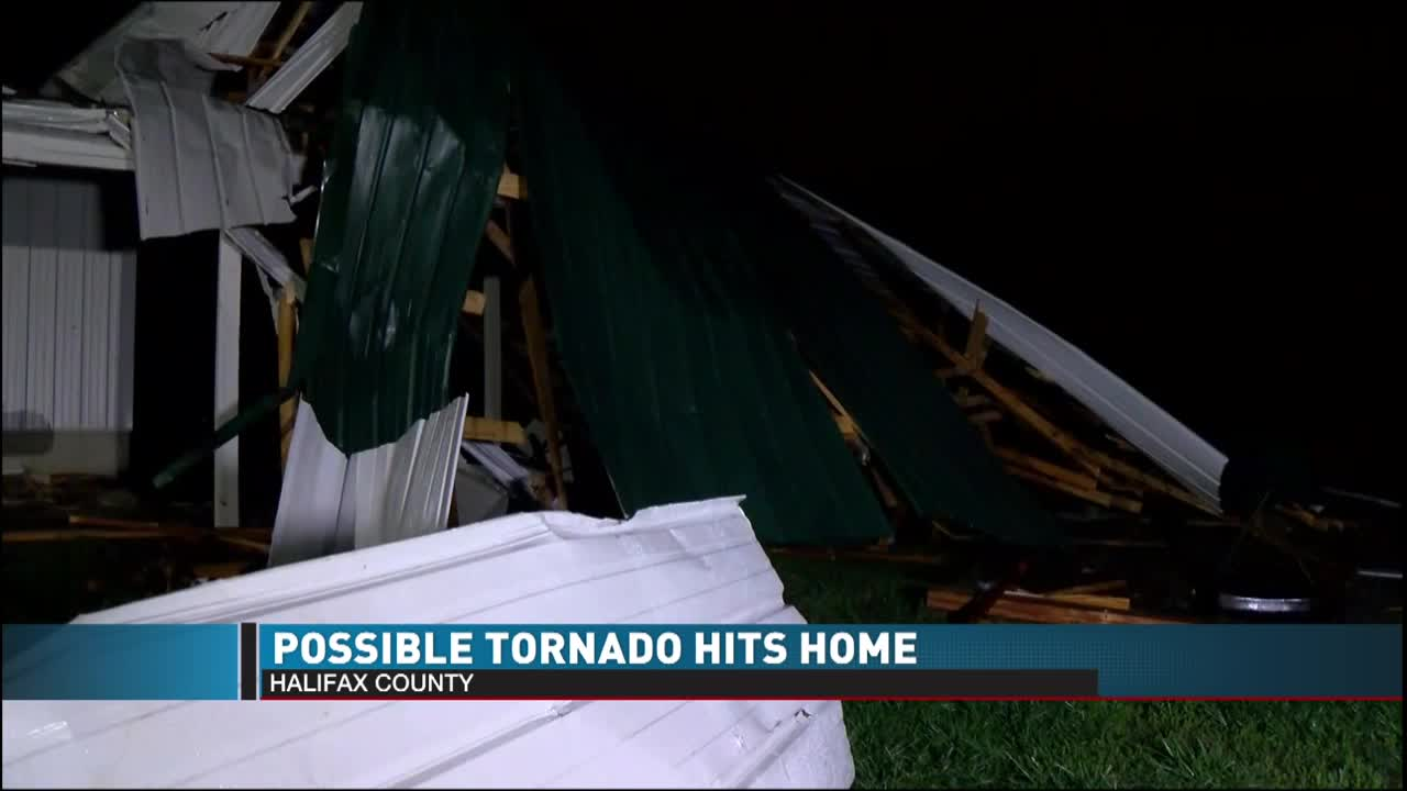 Possible tornado damages home in Halifax County