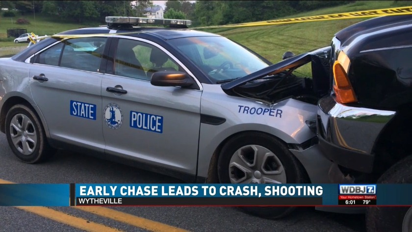 Two officers, suspect injured after cross-county pursuit turns shootout