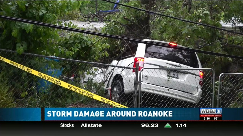 Severe Storm Leaves Downed Tree Crushed Cars And Power