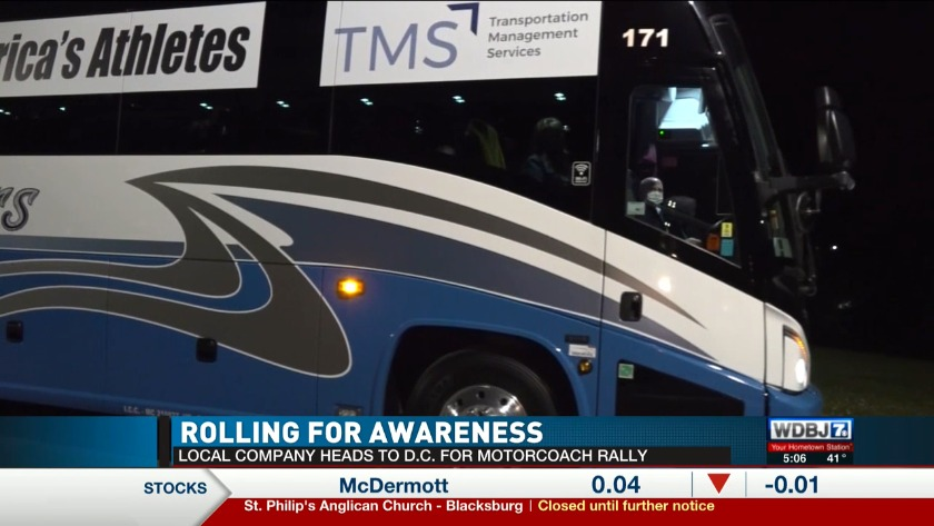 Dublin Based Tour Bus Company Leaves For Motorcoach Rally In D C
