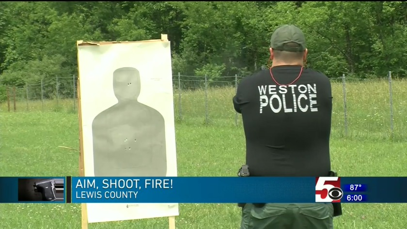 Weston Police Department undergoes firearm training