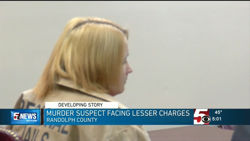 UPDATE: Randolph County murder suspect in court, charge reduced